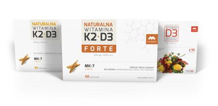 Witaminy Naturalne K2 i D3
