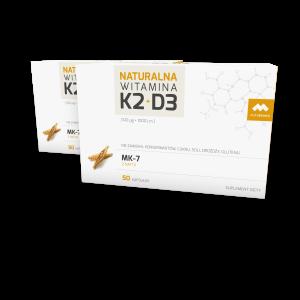 Dwupak Naturalna Witamina K2+D3