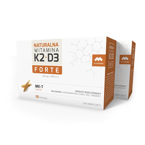 Dwupak witamina K2+D3 Forte