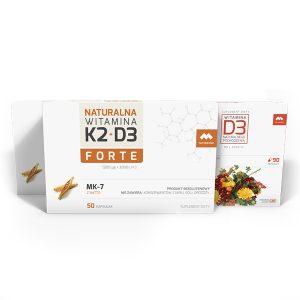 Pakiet witamina K2+D3 Forte i D3