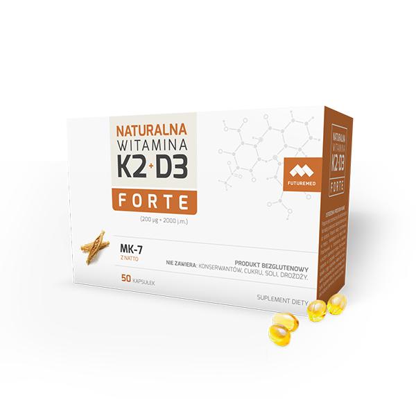 Naturalna Witamina K2+D3 Forte